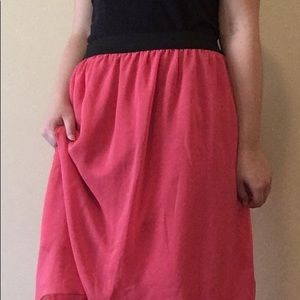 Pink High-Low Skirt